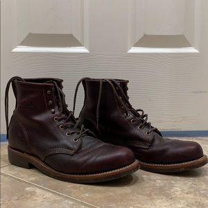 Original Chippewa for J.Crew Burgundy Boots